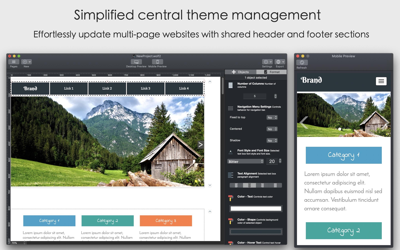 Wolf Website Designer Mac 破解版 简单快速的响应式网页设计工具-麦氪派(WaitsUn.com | 爱情守望者)